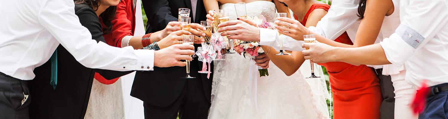 Bridal Party Toast at Wedding